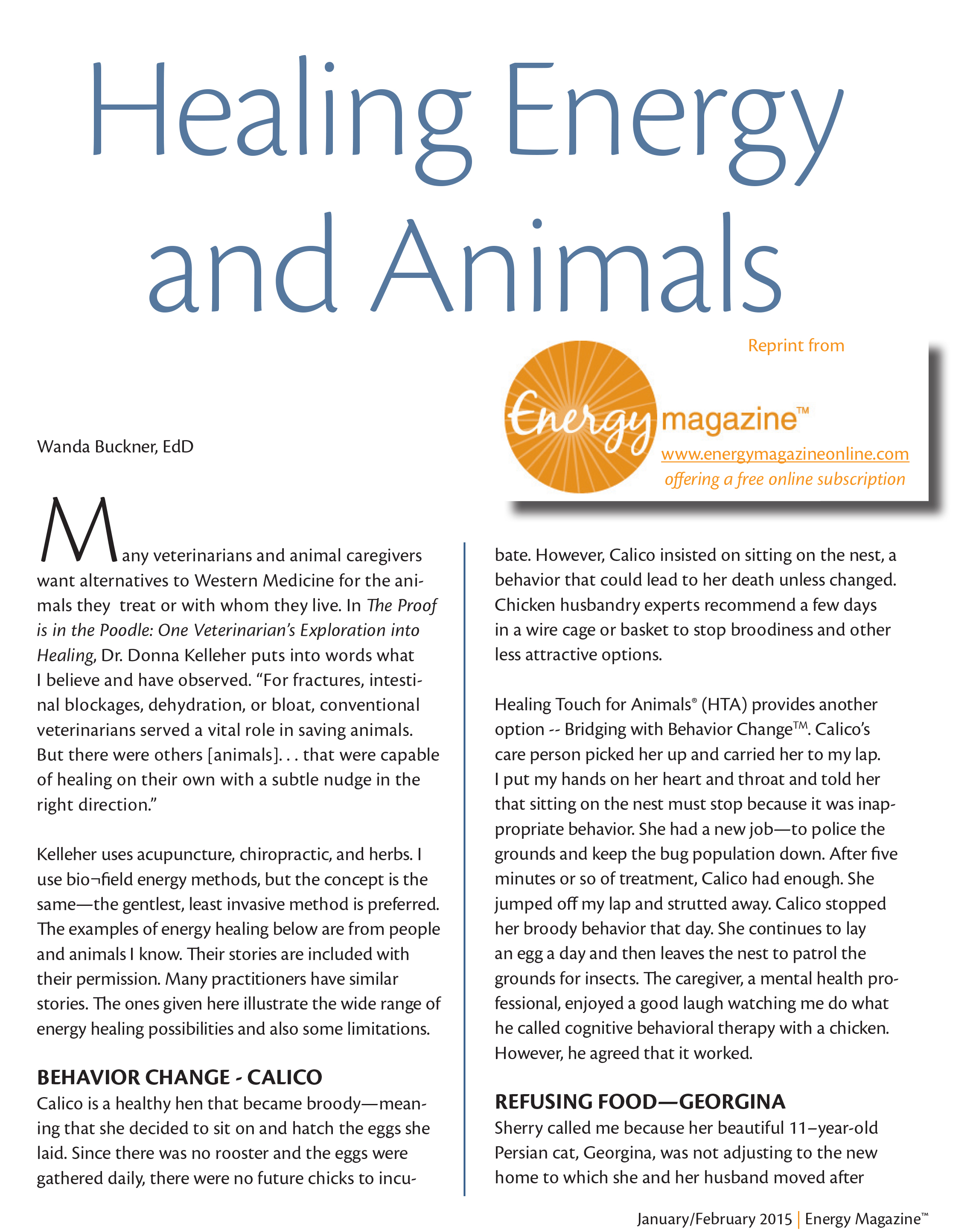 Healing Energy And Animals